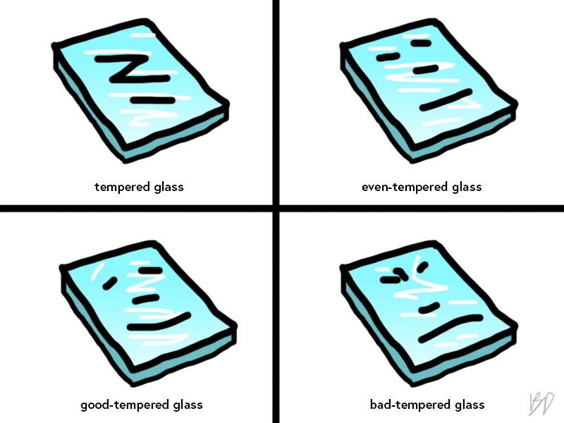 Glass comic
