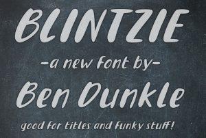 Blintzie, a new font